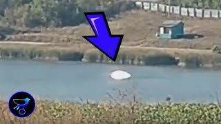 A bright UFO seen on a river in Russia! Aug 12,2019