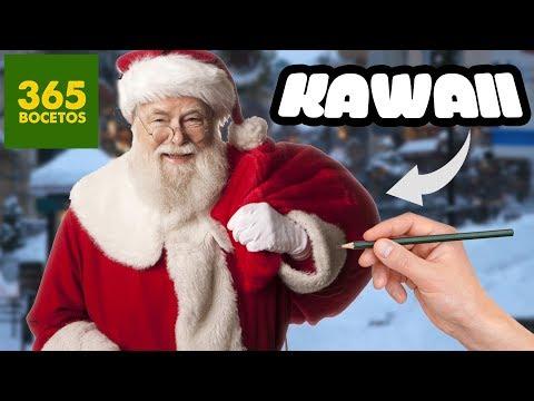 Youtube Como Dibujar A Santa Claus Kawaii Como Dibujar Kawaii