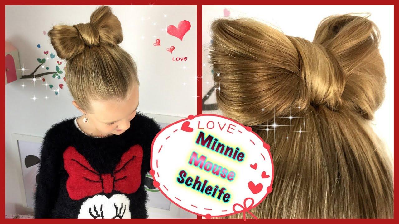 Minnie Mouse Schleife Hochsteckfrisur Schleifendutt Frisur