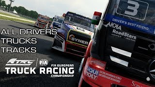 All Drivers, Trucks and Tracks from FIA European Truck Racing Championship Game