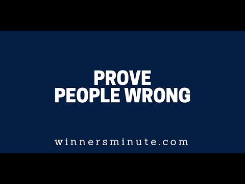 Prove People Wrong  The Winner's Minute With Mac Hammond