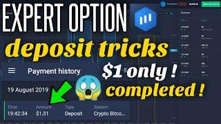 Expert Option Deposit Tricks Using $1 USD