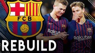 BARCELONA CHAMPIONS LEAGUE REBUILD!! - FIFA 19 Career Mode