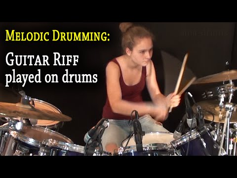 (I Can't Get No) Satisfaction; Guitar Riff played on drums (by Sina) - UCGn3-2LtsXHgtBIdl2Loozw