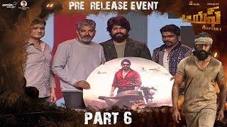 Watch KGF (Telugu) Pre Release Event Part 6 Yash Srinidhi