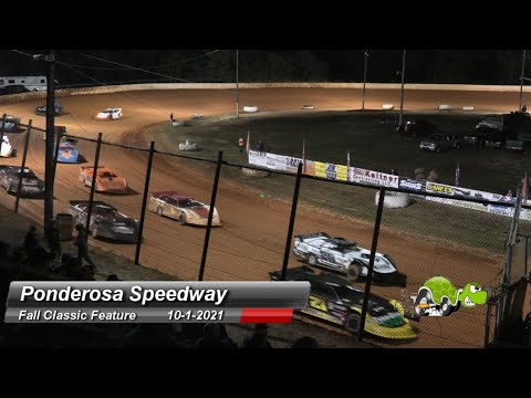 Ponderosa Speedway - Super Late Model Feature - 10/1/2021 - dirt track racing video image