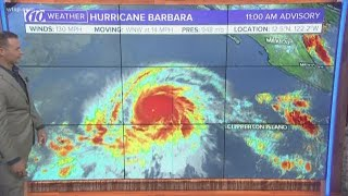 Hurricane Barbara strengthens to category 4 storm in Pacific Ocean