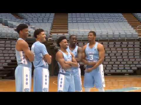 The Carolina Men's Basketball team poses for photos and takes  questions before they begin their 2016-2017 season.
