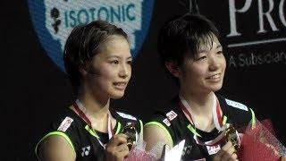 Yuki Fukushima/Sayaka Hirota Juara Blibli Indonesia Open 2019 - Podium Indonesia Open Super 1000