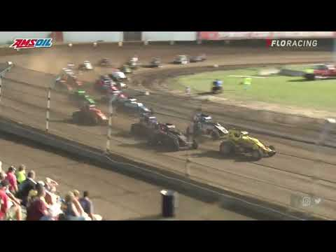 USAC AMSOIL National Sprint Car Highlights | Smackdown X (Day #2) | Kokomo Speedway | 8/28/2021 - dirt track racing video image