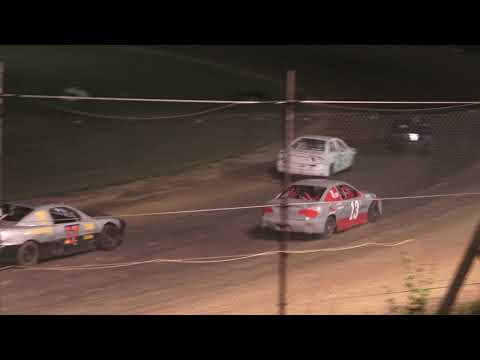 4 Cylinder A-Feature at Mid Michigan Raceway Park, Michigan on 06-18-2021!! - dirt track racing video image