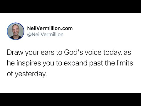 Expanding Past The Limits Of Yesterday - Daily Prophetic Word