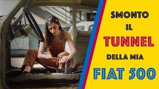 Smontare tunnel centrale Fiat 500