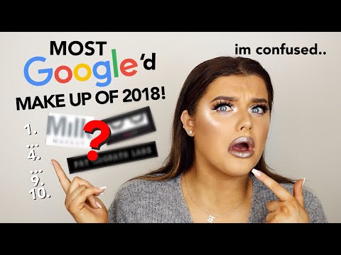 FULL FACE OF THE MOST GOOGLED MAKE UP OF 2018!   Rachel Leary - UC-Um2u0Agv8Q-OhjO6FZk1g