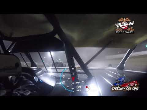 #56 Mark Davis - POWRi Super Stock - 9-10-2021 Midway Speedway - In Car Camera - dirt track racing video image