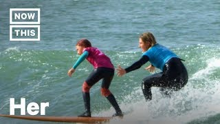 Young Women & Girls Get to Surf With the Pros at Rising Tide Event   NowThis