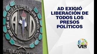 Sucre - AD exigió liberación de los presos políticos en Venezuela - VPItv