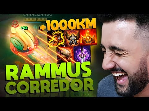 TILTANDO GERAL! RAMMUS CORREDOR SÓ COM ITEM QUE DÁ MOVESPEED! - League of Legends