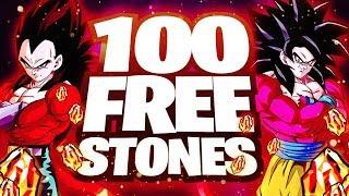 100 FREE DRAGON STONES?! Thanks For My Rock!! |  DBZ Dokkan Battle