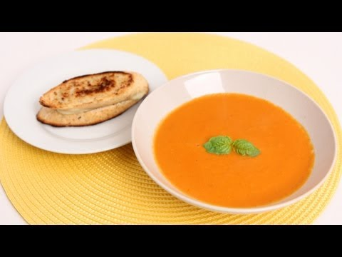 Fresh Tomato Soup Recipe - Laura Vitale - Laura in the Kitchen Episode 627 - UCNbngWUqL2eqRw12yAwcICg