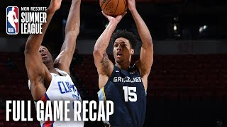 GRIZZLIES vs CLIPPERS | 1st Round Pick Brandon Clarke Leads Memphis | MGM Resorts NBA Summer League