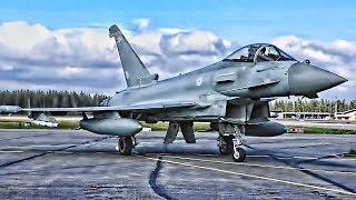 RAF Typhoons • Swedish Gripens • American F-16 Falcons