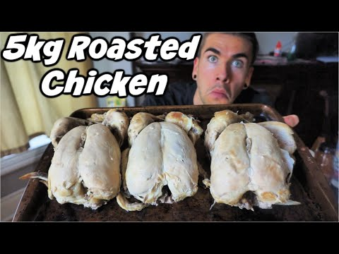GIANT CHICKEN CHALLENGE! 11lbs of Chicken | How Many Chickens Can You Eat? Man Vs Food> </a> <div style=