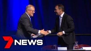 Premier avoids protest crowds outside Liberal Party general meeting | Adelaide | 7NEWS
