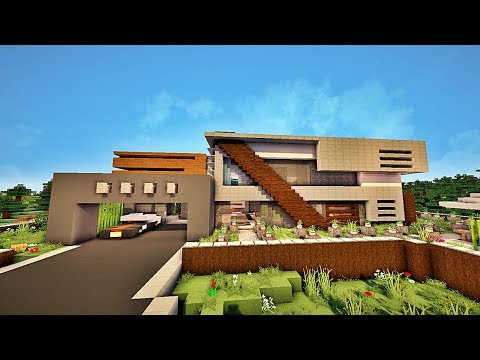 Stunning maison moderne de luxe minecraft photos design trends