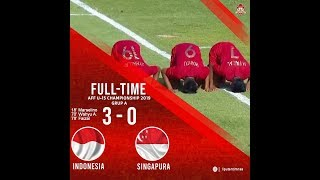 Indonesia U15 (3) vs Singapore (0) Piala AFF 2019