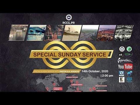 RCCG OCTOBER 4th 2020  PASTOR E.A ADEBOYE SPECIAL SERVICE