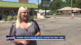 Woman helps police catch her own bike thief