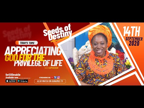Dr Becky Paul-Enenche - SEEDS OF DESTINY - MONDAY SEPTEMBER 14, 2020