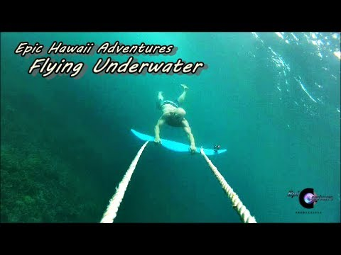 Flying Underwater - Dive Wing Hawaii with GoPro Hero 3 Black and Hero 2