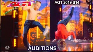 Michael Molina 6 year old Martial Artist & Lorenzo Carboni | America's Got Talent 2019 Audition