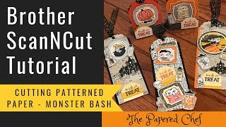 Brother ScanNCut Tutorial - Cutting Patterned Paper - Monster Bash - 2019 Holiday Catalog