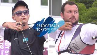 Abdullin Ilfat v Pierre Plihon – recurve men 2nd round | Tokyo 2020 Olympic Test