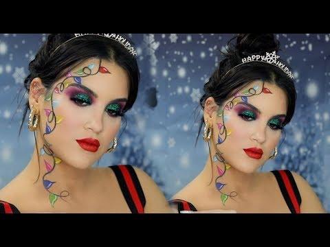Festive AF Christmas Lights Makeup Look | Nicole Guerriero - UCz0Qnv6KczUe3NH1wnpmqhA