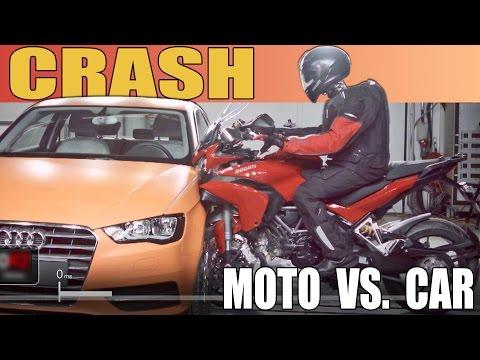 Moto vs. Car - CRASH TEST - 2015 Ducati Multistrada vs. Audi A3 - UCW2OUlFrrWiZvSsZRwOYmNg