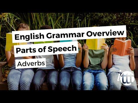 English Grammar Overview - Parts of Speech - Adverbs