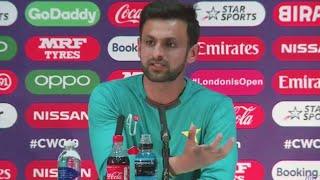 Shoaib Malik announces ODI retirement | Full Press Conference | ICC Cricket World Cup 2019 #PakvsBan