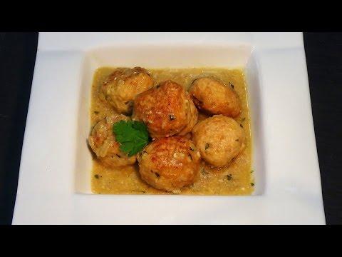 Albóndigas de pollo en salsa de almendras - Recetas de cocina, paso a paso. Loli Domínguez - UC5ONfXPjWgqElh0NZaRJ1tg