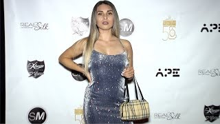 """Carina Cortez """"Models Vs Influencers All Gold Party"""" Red Carpet"""