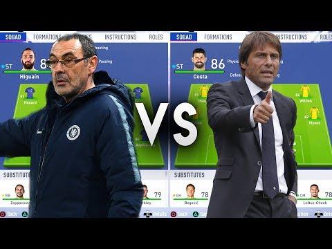 Maurizio Sarri's Chelsea VS Antonio Conte's Chelsea - FIFA 19 Experiment