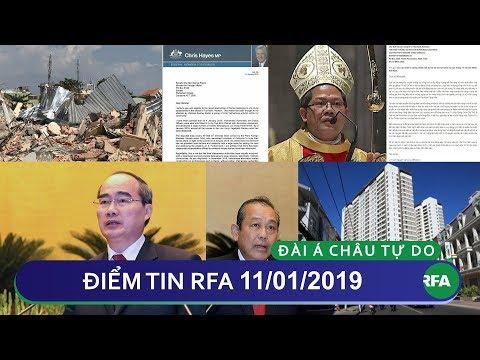Điểm tin RFA tối 11/01/2019 | Dân biểu Úc và giám mục gốc Việt ở Úc lên tiếng về vụ Lộc Hưng