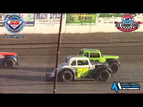 Sheyenne Speedway INEX Legends A-Main (6/13/21) - dirt track racing video image