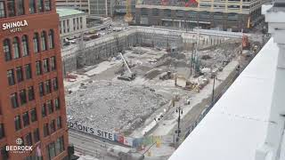 Timelapse shows Hudson's Site foundation work
