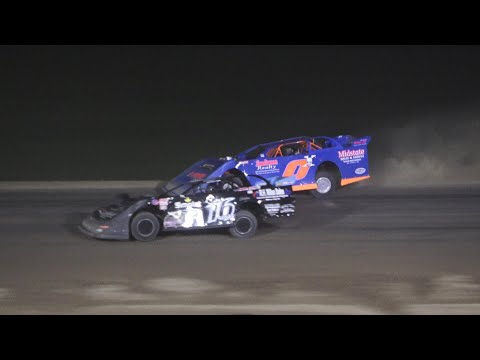 Late Model A-Feature at Crystal Motor Speedway, Michigan on 08-14-2021!! - dirt track racing video image