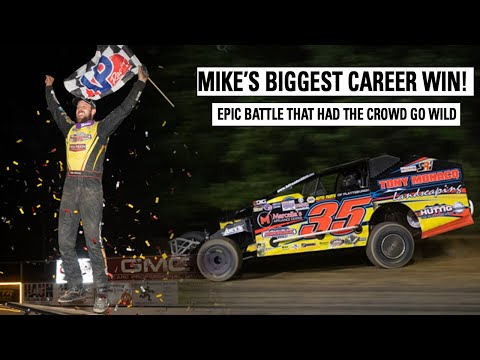 Mike Mahaney Wins First EVER Super DIRTcar Series Victory! - dirt track racing video image
