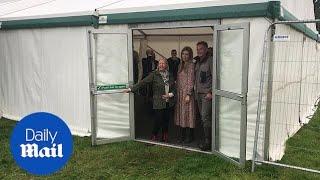 Boris Johnson's partner Carrie Symonds arrives for environment event